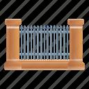 frame, border, metal, retro, gate, fence icon