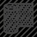 chainlink, fence, mesh, netting, rabitz icon