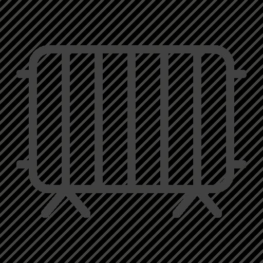 barricades, control, crowd, fence, fencing, metal icon