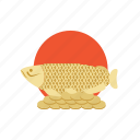asia, feng, fish, gold, japan, mascot, shui icon