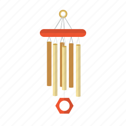asia, feng, mascot, music, shui, wind chime icon