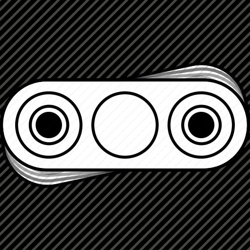 bar, fidget spinner, hand, outline, spin, spinner, tribar icon