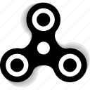 bar, fidget spinner, hand, move, spin, spinner, tribar icon
