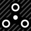 bar, fidget spinner, hand, spin, spinner, tribar icon