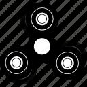 bar, fidget spinner, hand, movement, spin, tribar icon