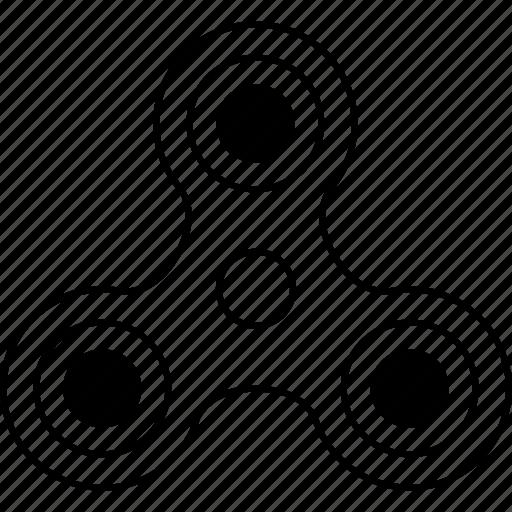 bar, fidget, hand, spin, spinner, tribar icon