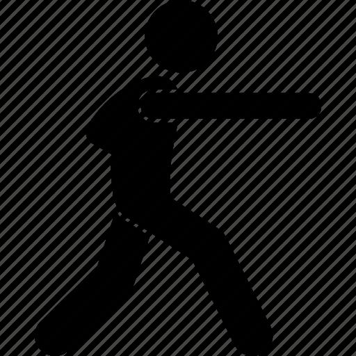 kickboxing, martial arts, punch, self defense icon
