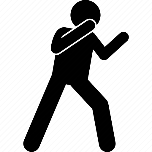 fight, fighting, stance icon