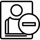 avatar, minus, profile, user icon