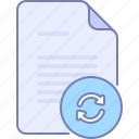 document, file, reset, update icon