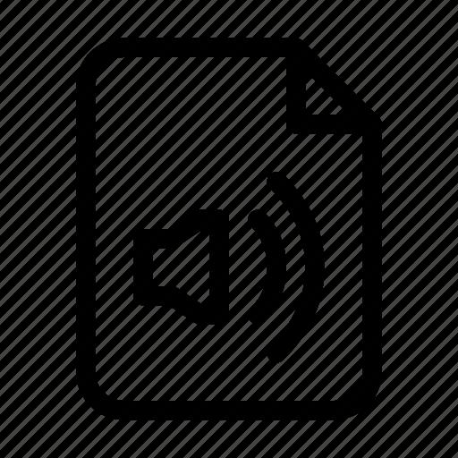 audio, data, document, file, file format, sound, voice icon
