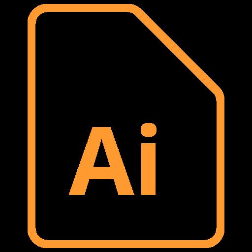adobe, ai icon, design, document, file, illustrator icon