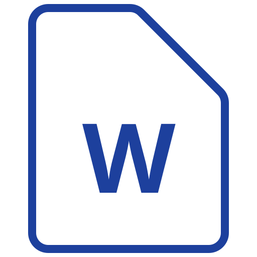 document, docx, file, text, type, word, writing icon