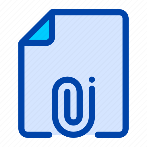 attachment, business, clip, document, file, office, paper icon