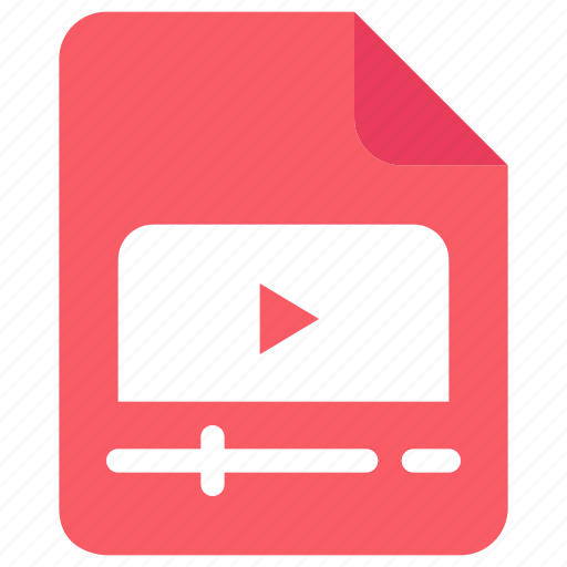 document, file, media, video icon