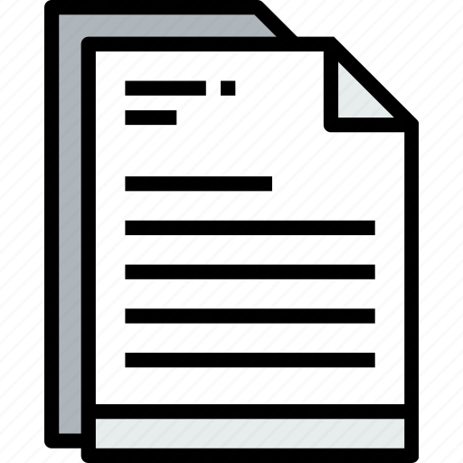 business, document, file, paper, text icon