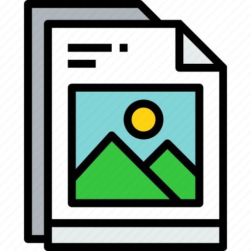 business, document, file, paper, photo icon