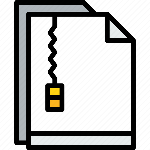 business, document, file, paper, zip icon