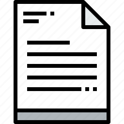 business, document, paper icon