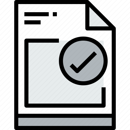 business, check, document, file, paper icon