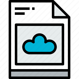 business, cloud, document, file, paper icon