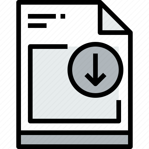 business, document, down, file, paper icon