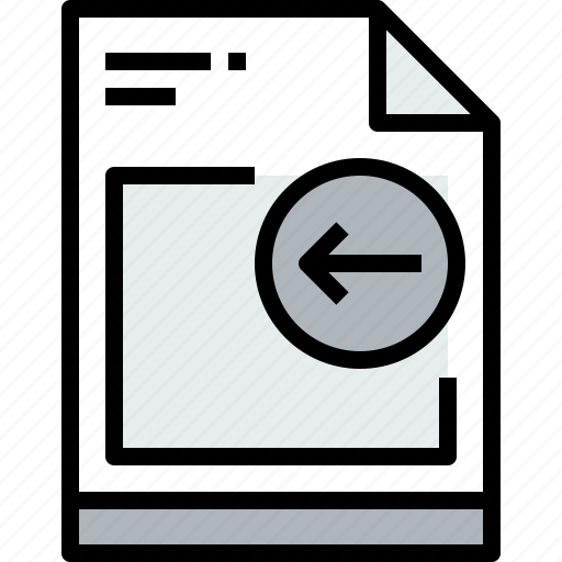 business, document, file, left, paper icon