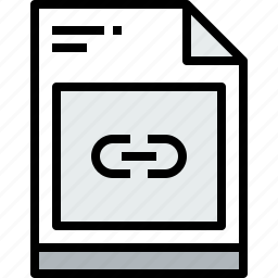 business, document, file, link, paper, web icon