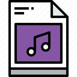 business, document, file, media, music, paper icon