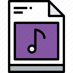 business, document, file, music, paper icon