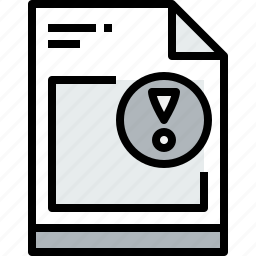 business, document, file, notice, paper icon