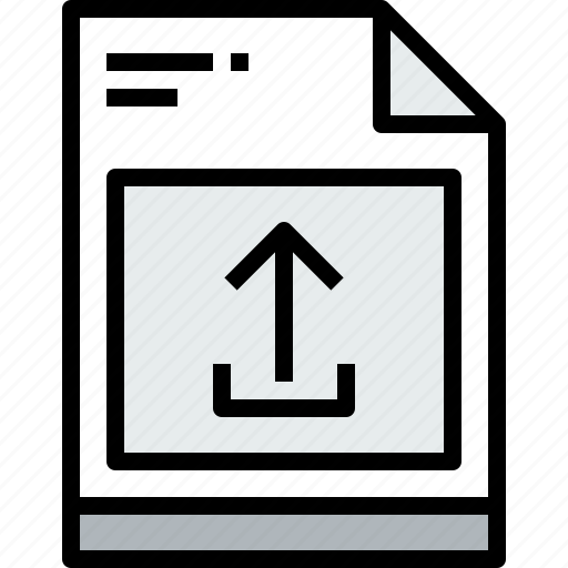 business, document, file, paper, unload icon