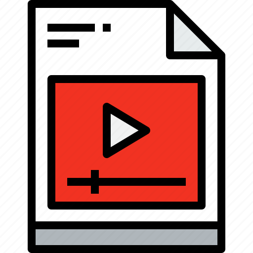 business, document, file, media, paper, video icon