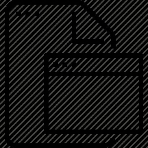 Browser, document, file, format, program icon - Download on Iconfinder