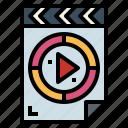 file, film, movie, multimedia, reel, video icon