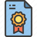 award, document, file, form, interface icon