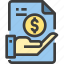 document, file, form, interface, money, save icon