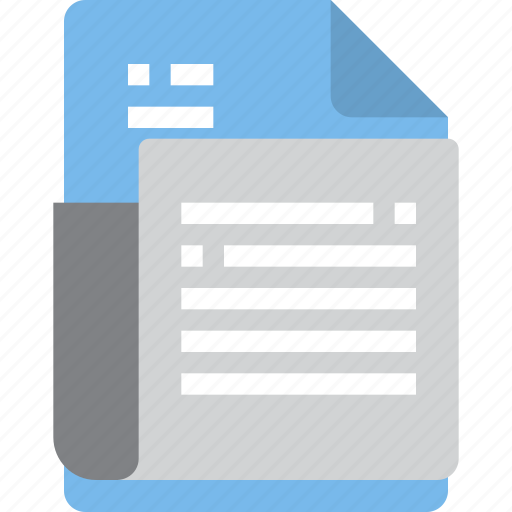 document, file, form, interface, news icon