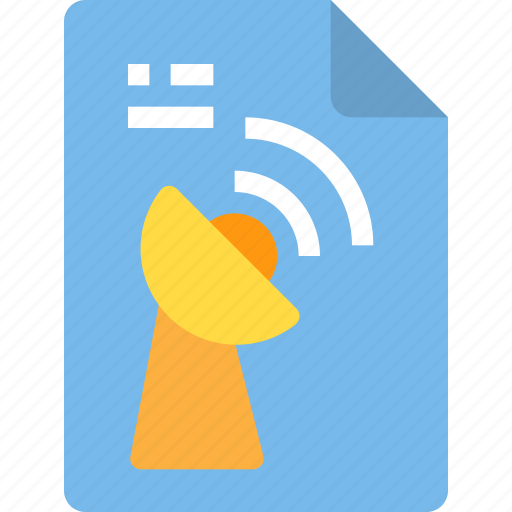 document, file, form, interface, satlelite icon