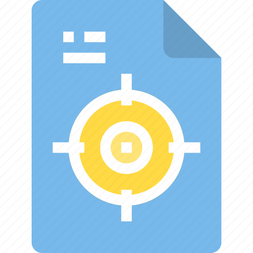 document, file, form, interface, target icon