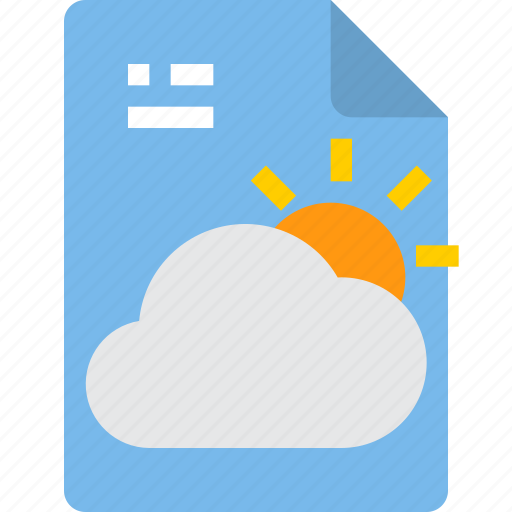 document, file, form, interface, weather icon