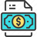 document, file, form, interface, make, money icon