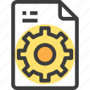 document, file, form, interface, process icon