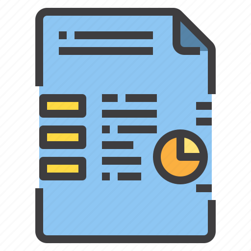 business, chart, document, form, interface, report icon