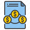 document, exchange, form, interface, money icon