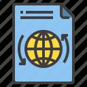 document, exchange, form, interface, world icon