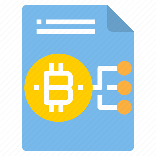 bitcoin, chart, document, file, form, interface icon