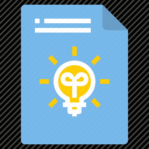 creative, document, file, form, idea, interface icon