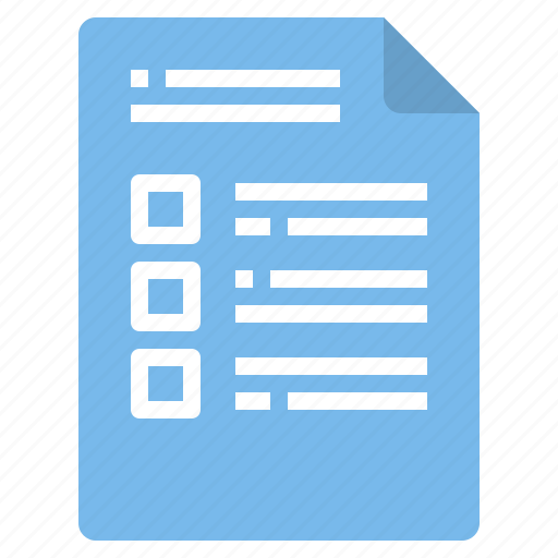 document, file, form, interface, list icon