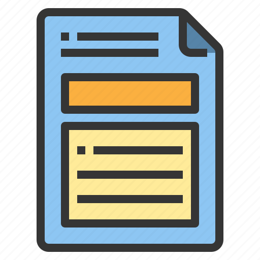 business, document, form, interface icon